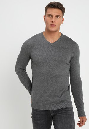 Strickpullover - mottled dark grey, mottled dark grey