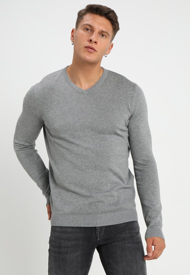 YOURTURN - Strickpullover - mottled grey
