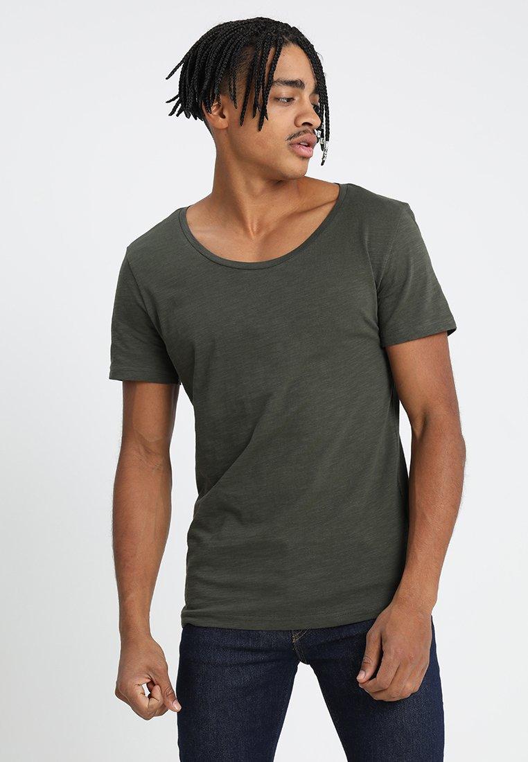 YOURTURN - Basic T-shirt - dark green