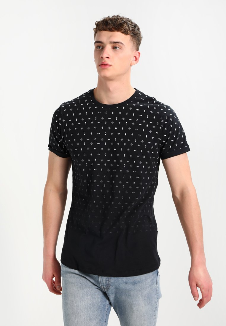 YOURTURN - T-shirt print - black/white