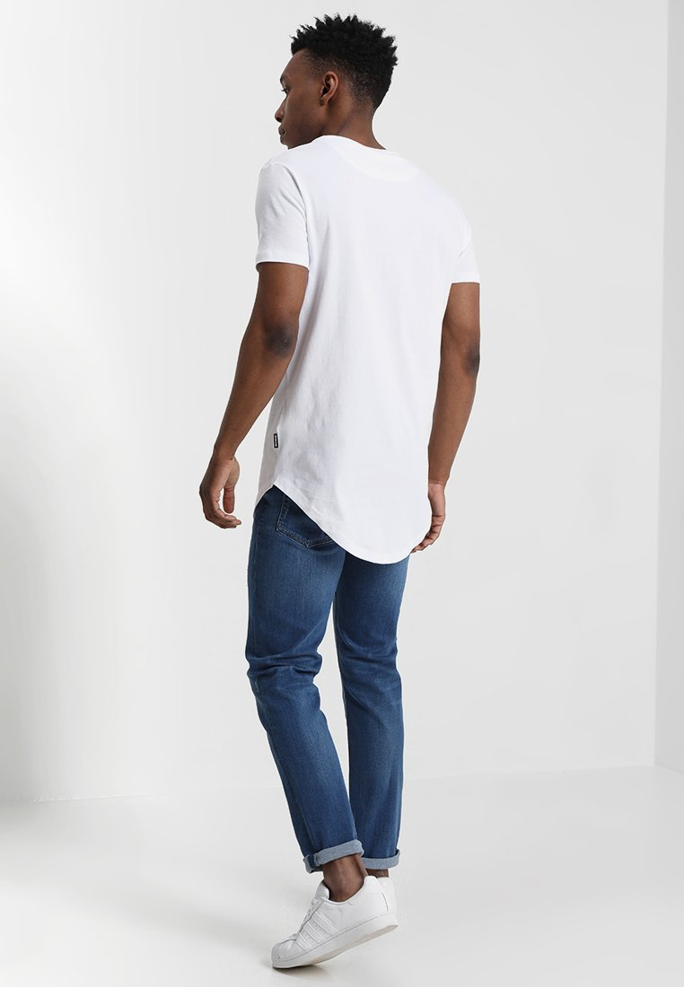 FitT Bright shirt Longline Logo White Yourturn Imprimé q4A35LcSRj