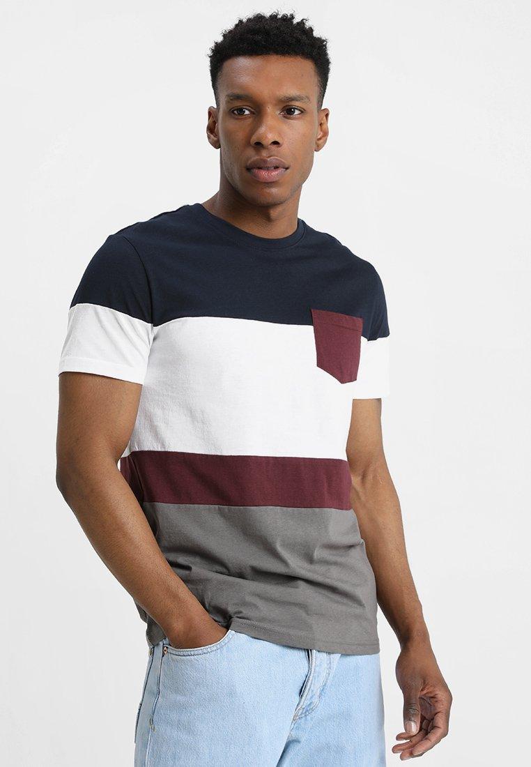 Yourturn shirt Gray T dark ImpriméDark Blue j5R4Acq3SL