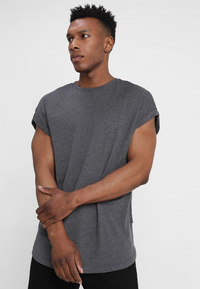 YOURTURN - Basic T-shirt - mottled dark grey