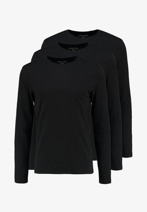 3 PACK - Camiseta de manga larga - black