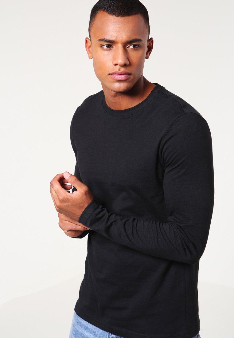 YOURTURN - 3 PACK - Top sdlouhým rukávem - black