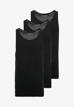 3-PACK - Top - black