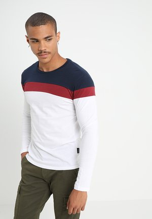 Long sleeved top - white/blue/red