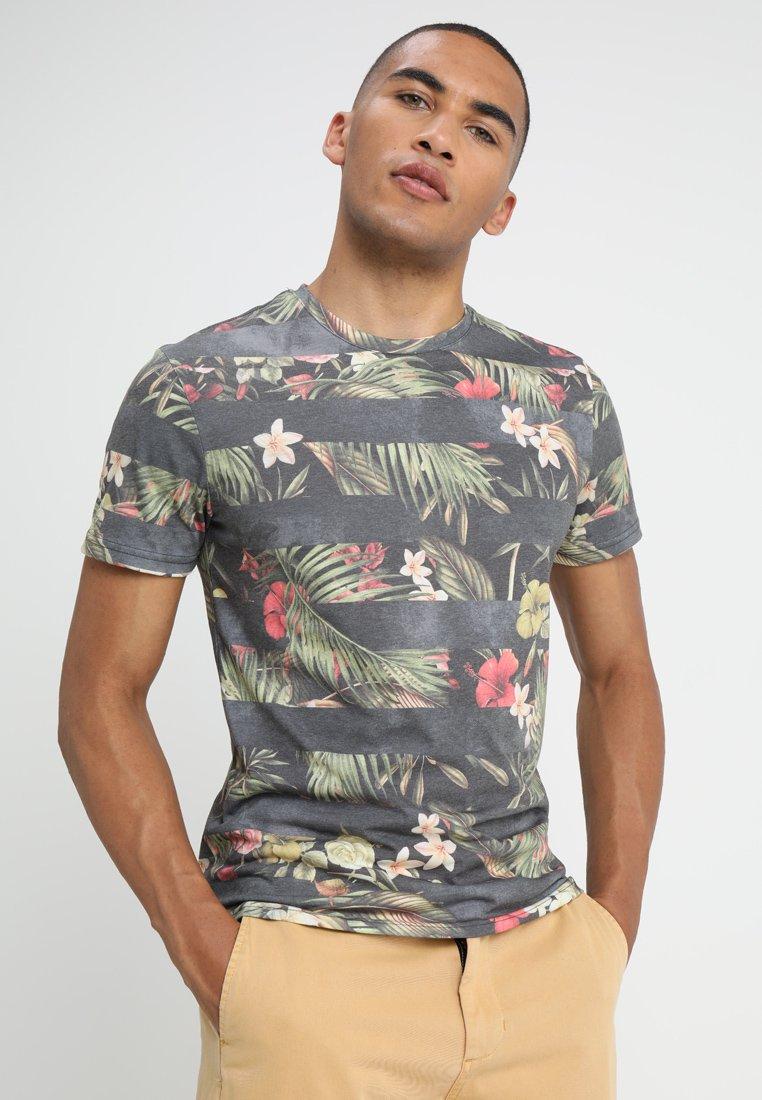 YOURTURN - T-Shirt print - green/black