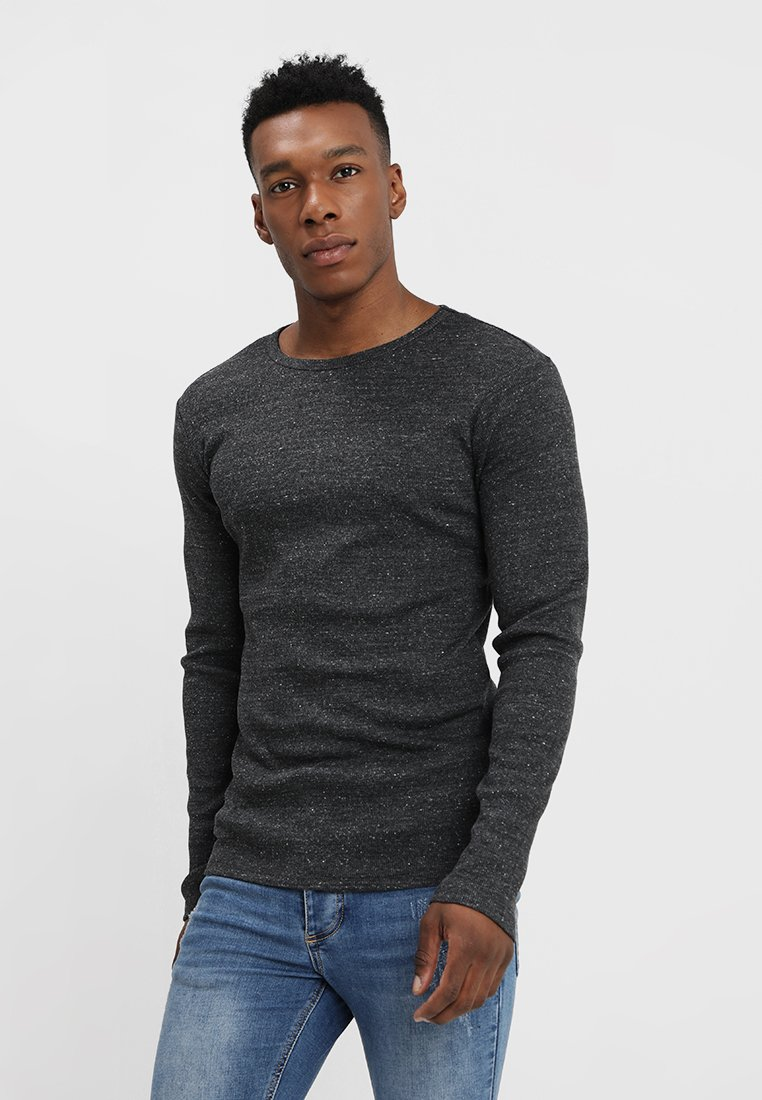 YOURTURN - Long sleeved top - mottled black