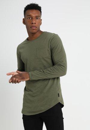 Top sdlouhým rukávem - khaki