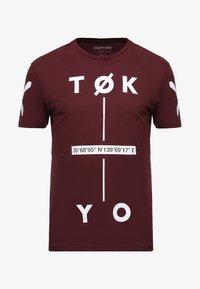 YOURTURN - T-Shirt print - bordeaux - 3