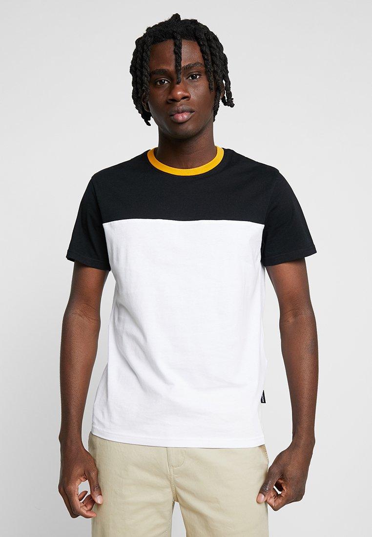 YOURTURN - Print T-shirt - white/black/yellow
