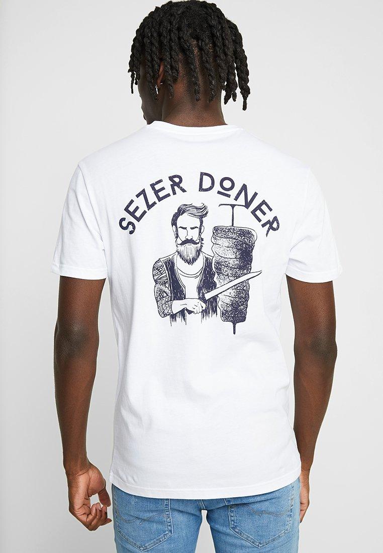 YOURTURN - T-Shirt print - white/blue