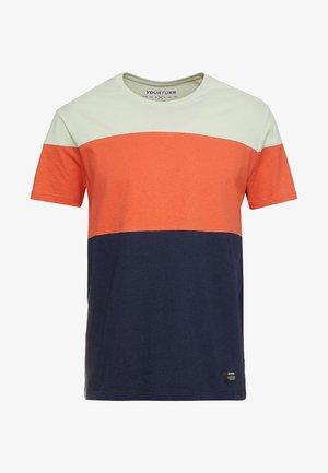 Print T-shirt - black/green/orange