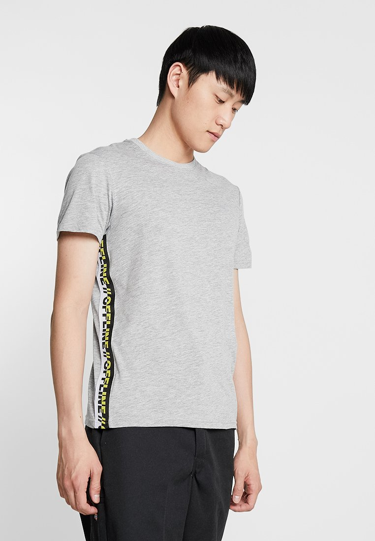 YOURTURN - Print T-shirt - mottled grey