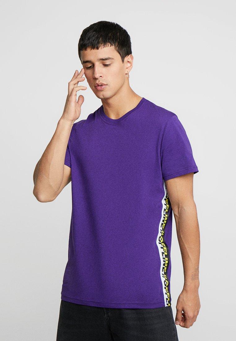 YOURTURN - T-shirt con stampa - purple