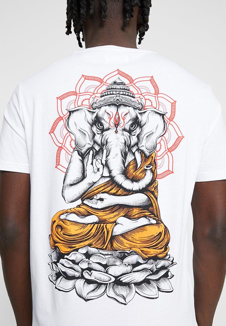 YOURTURN - T-shirt con stampa - white