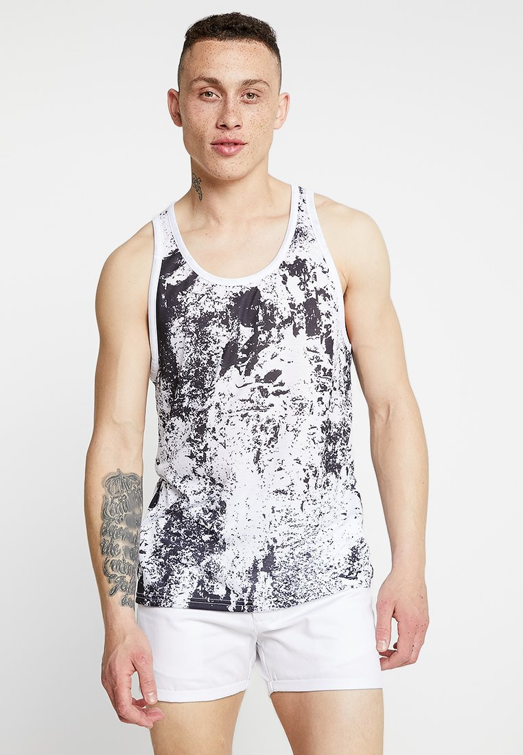 YOURTURN - TANK TEXTURE SUBLI - Top - black/white
