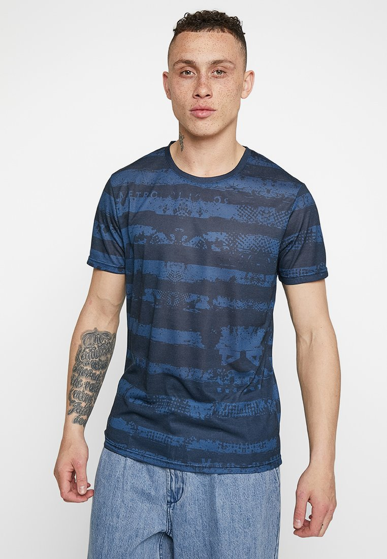 YOURTURN - Camiseta estampada - blue