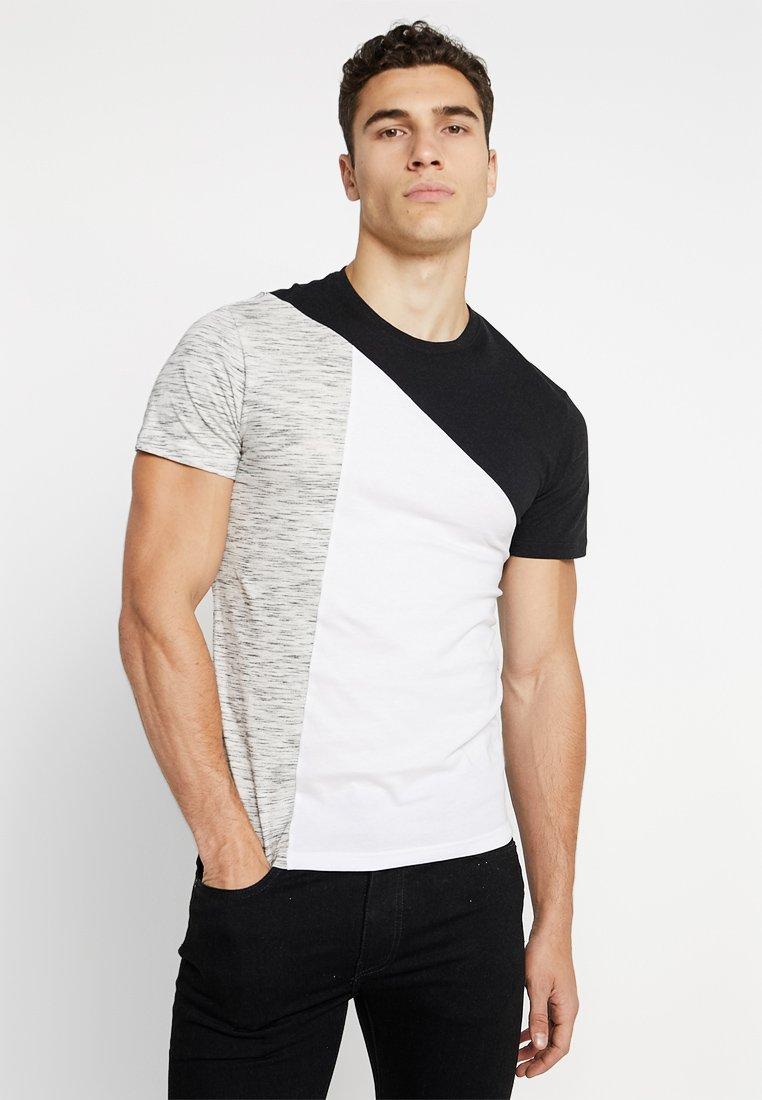 YOURTURN - Print T-shirt - grey/white/black