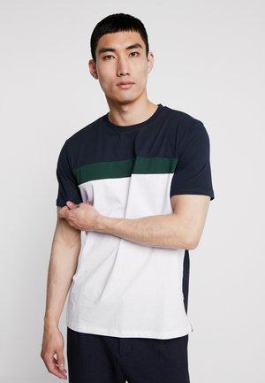 T-shirt z nadrukiem - white/blue/khaki