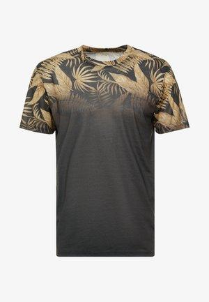 T-shirt z nadrukiem - mottled dark grey
