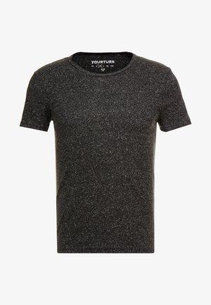 Camiseta básica - mottled black