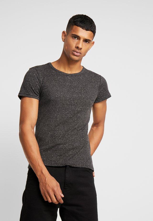 T-Shirt basic - mottled black
