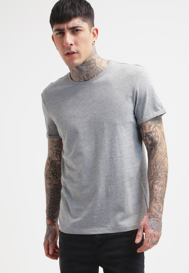 YOURTURN - Basic T-shirt - mottled grey