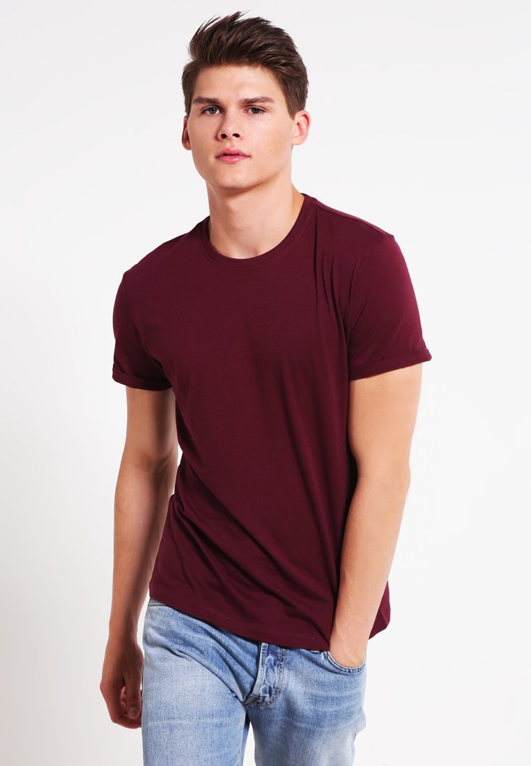 YOURTURN - Basic T-shirt - bordeaux