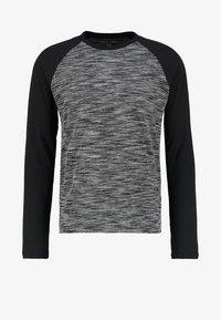 YOURTURN - Long sleeved top - mottled grey black - 4