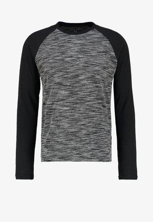 T-shirt à manches longues - mottled grey black
