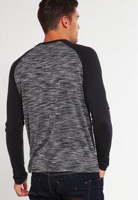 YOURTURN - Long sleeved top - mottled grey black - 2