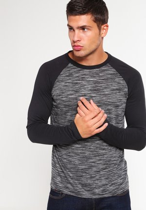 Camiseta de manga larga - mottled grey black