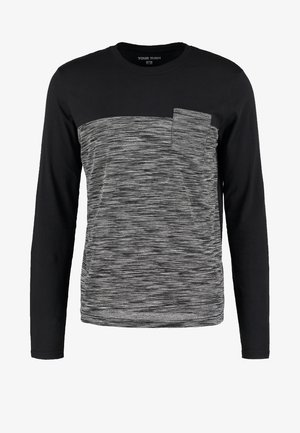 T-shirt à manches longues - mottled grey/black