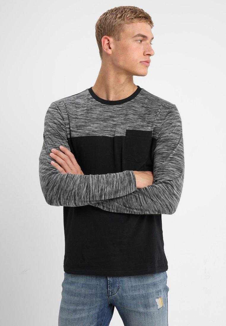 YOURTURN - Langarmshirt - black/mottled grey