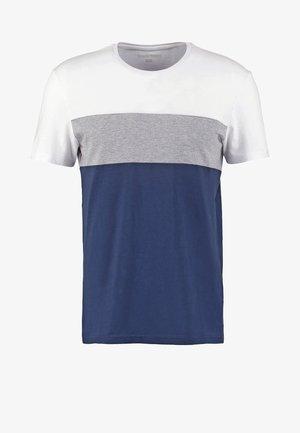 T-shirt med print - white/dark blue