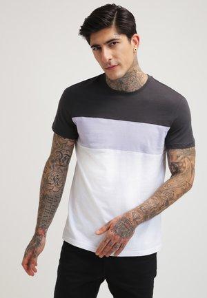 T-shirt z nadrukiem - black/white