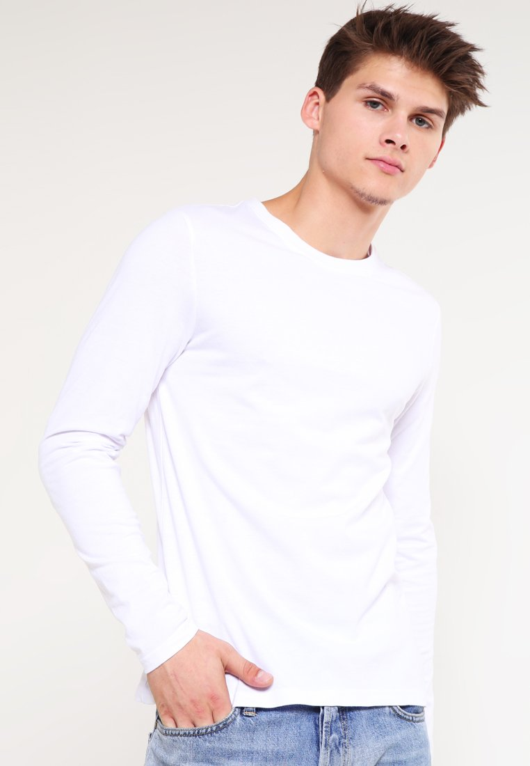 YOURTURN - Top sdlouhým rukávem - white