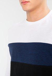 YOURTURN - Top sdlouhým rukávem - dark blue/off-white/black - 3