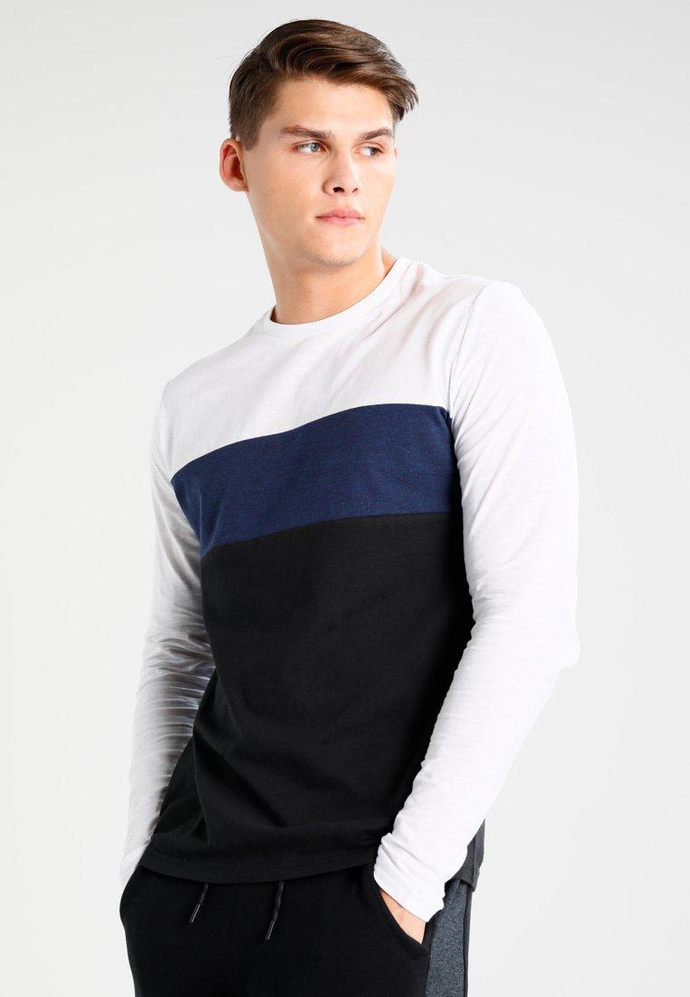 YOURTURN - Top sdlouhým rukávem - dark blue/off-white/black