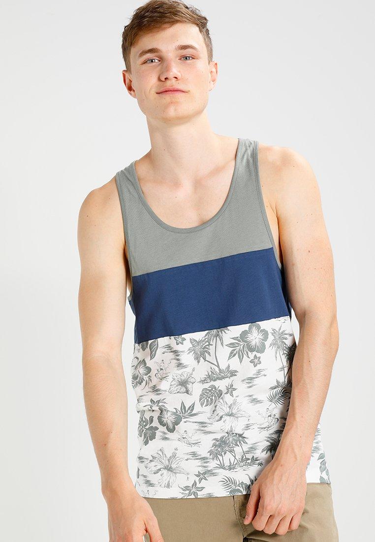 YOURTURN - T-shirt print - blue/khaki/ white