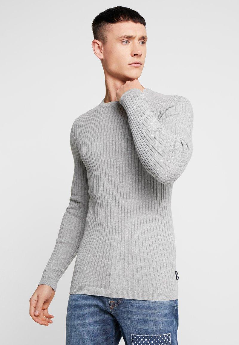 YOURTURN - Strickpullover - mottled light grey