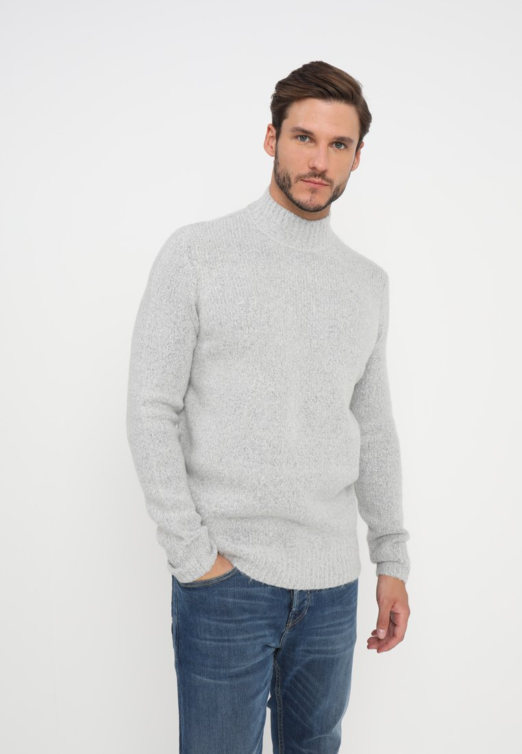 YOURTURN - Trui - mottled light grey