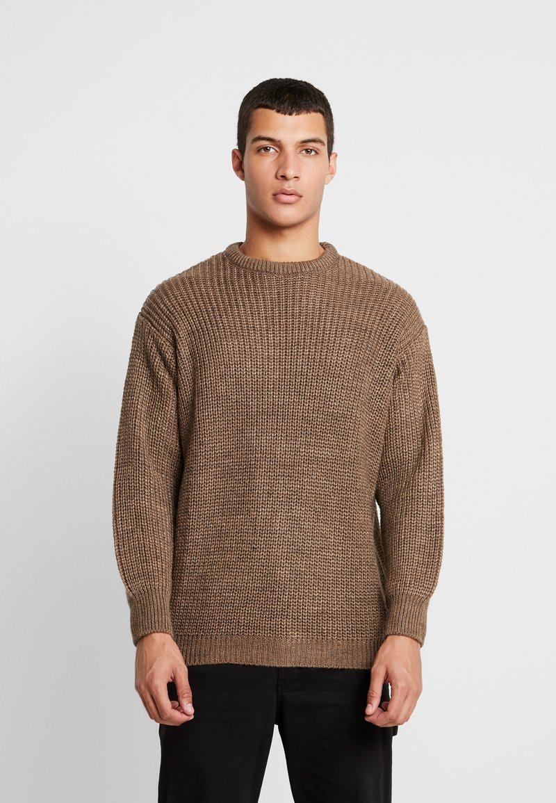 YOURTURN - Jumper - mottled light brown