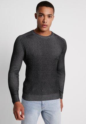 Svetr - mottled dark grey
