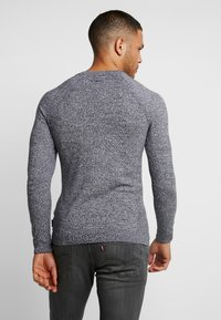 YOURTURN - FINE TWISTED CREWNECK - Strickpullover - mottled dark grey - 2