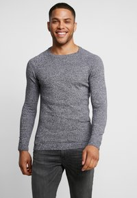 YOURTURN - FINE TWISTED CREWNECK - Strickpullover - mottled dark grey - 0
