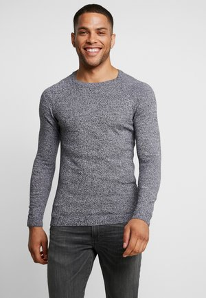 FINE TWISTED CREWNECK - Svetr - mottled dark grey