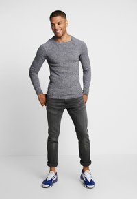 YOURTURN - FINE TWISTED CREWNECK - Strickpullover - mottled dark grey - 1